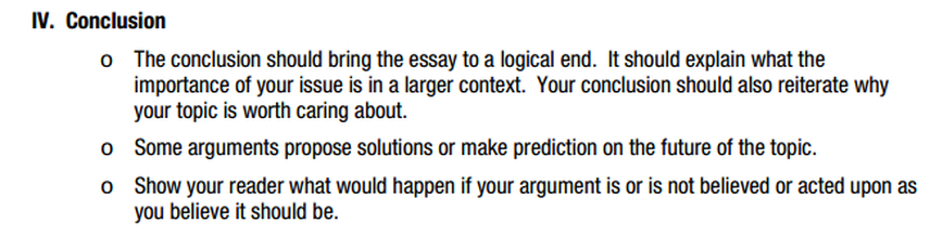 classic model pre ap english  objective students will preview the conclusion portion of the classical argument and then write the conclusion for their argumentative essay
